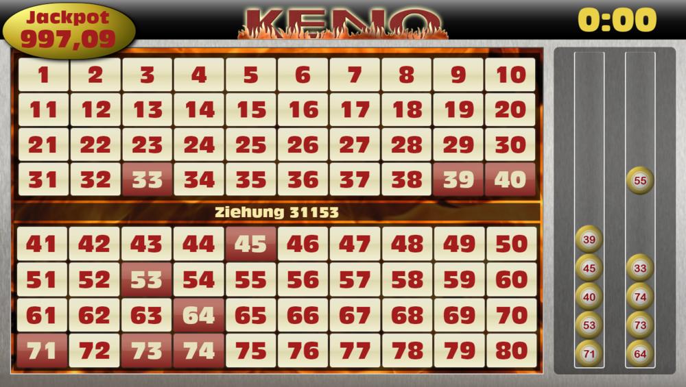 Keno draw codigo 344308