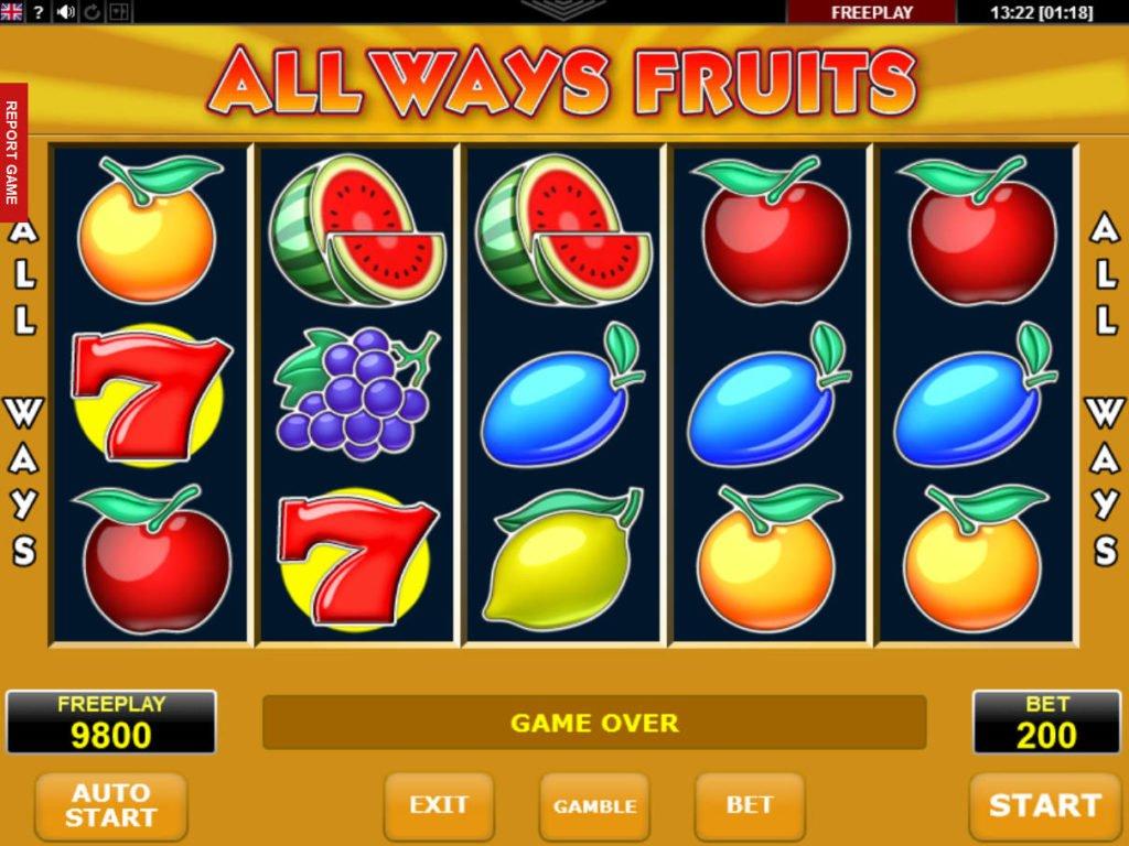 Fruitz caça níquel 582442