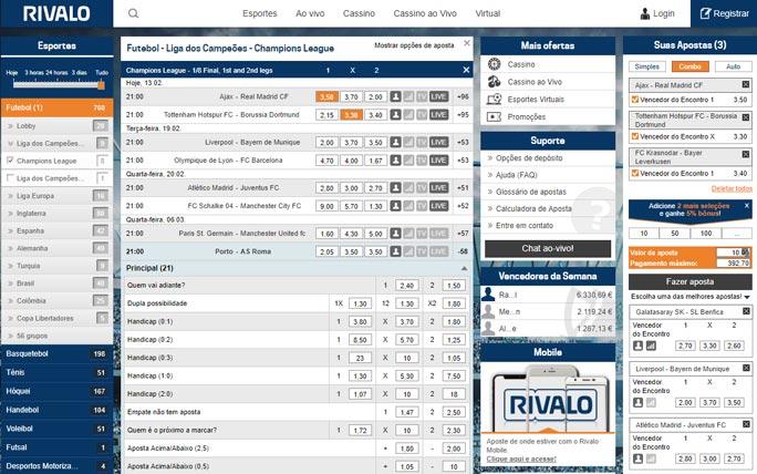 Rivalo website bonus 243559