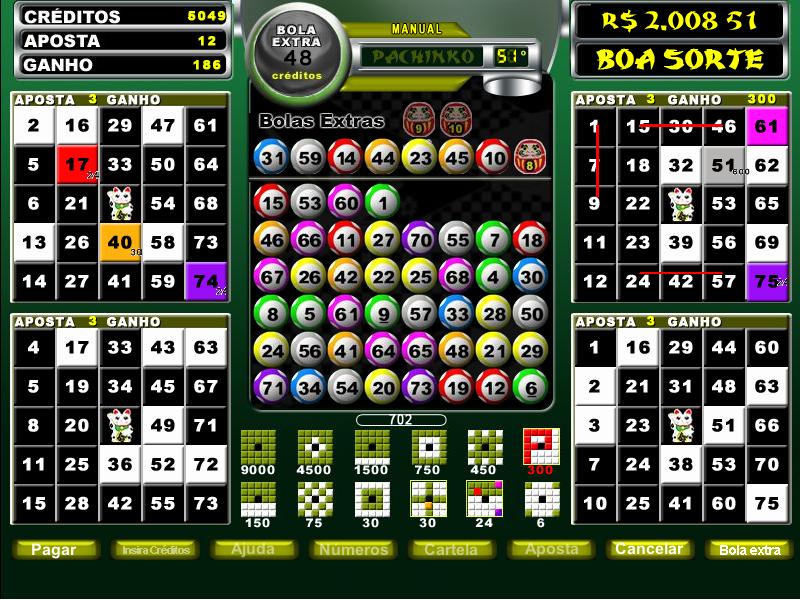 Pachinko vídeo bingo casinos 287699