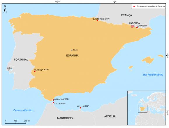 Portugal mapa blog Espanha 196920