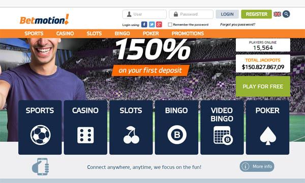 Bingo betmotion online cartão 394898