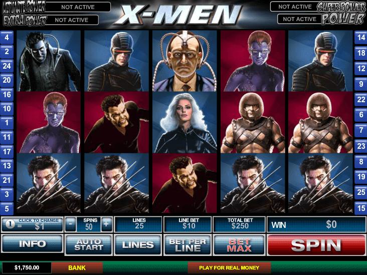 X-men caça níquel slots 226968